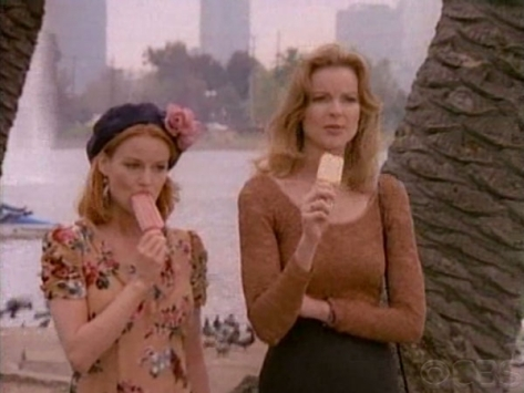 Melrose Place's Sydney Andrews and Kimberly Shaw