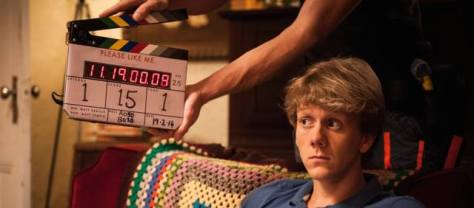 Josh Thomas on set of Please Like Me's Second Season