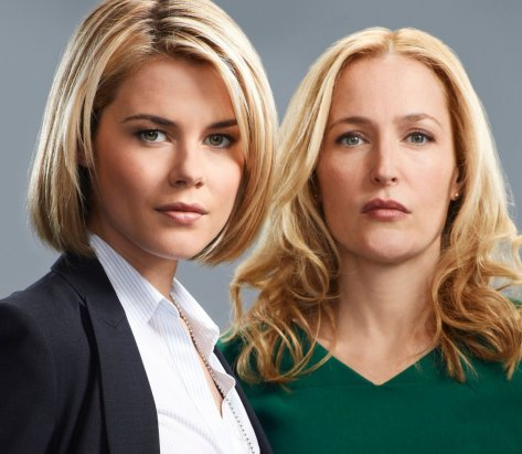 Crisis stars Rachel Taylor and Gillian Anderson.  Source: Provided