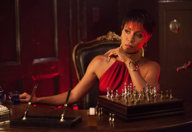 Jada Pinkett-Smith as nightclub owner Fish Mooney in 9's Gotham