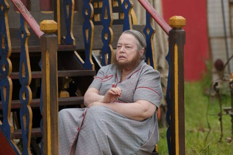 Kathy Bates is back as the Bearded Woman.  Source: Provided