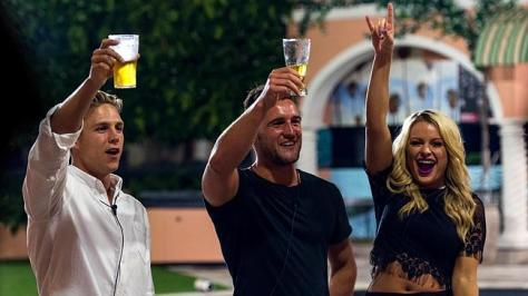 Ryan, Travis and Skye the final three Big Brother housemates . Picture: Supplied