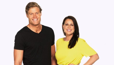 Hosts Chris Brown and Julia Morris.  Source: Network 10