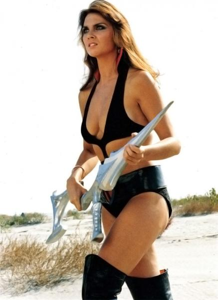 Munro as Stella Star in the 1978 cult film Starcrash