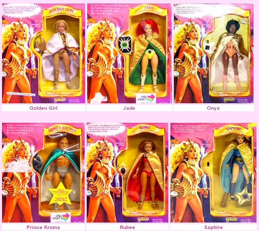 Just some of the released Golden Girls figures.