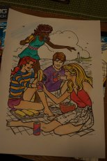 Vintage 80's Barbie coloring page
