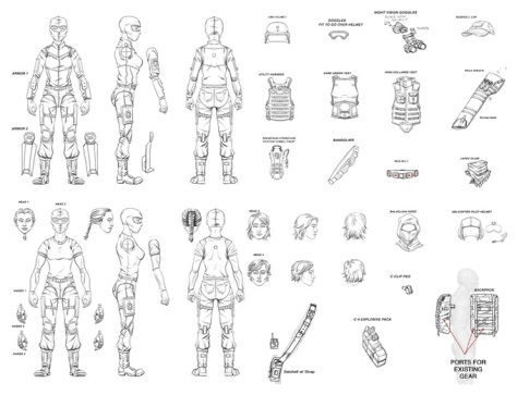 Concept art for wave two of the figures