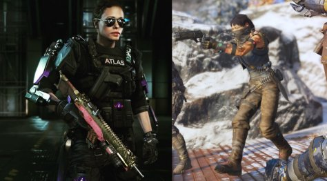 AW female soldier vs BO3 female soldier