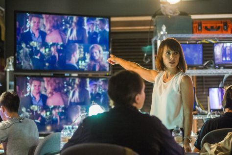 Quinn (Constance Zimmer) tells it like it is.  Photo: James Dittiger/Lifetime