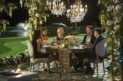 An exclusive dinner with our prince charming leads to drama.  Photo: James Dittiger/Lifetime