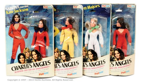 Set of four carded Palitoy 70's Charlie's Angels figures sold for £50