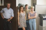 "(L to R) Chelsea Hobbs (""Laura Leighton/Sydney Andrews""), Joseph Coleman (""Doug Savant/Matt Fielding"") and Chloe McClay (""Josie Bissettt/Jane Mancini"") star in the all-new Lifetime movie, The Unauthorized Melrose Place Story, premiering Saturday, October 10, at 8pm ET/PT Photo by Sergei Bachlakov Copyright 2015"