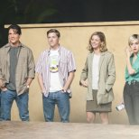 "(L to R) Ryan Bruce (""Grant Show/Jake Hanson""), Joseph Coleman (""Doug Savant/Matt Fielding""), Rebecca Dalton (""Courtney Thorne-Smith/Allison Parker"") and Chloe McClay (""Josie Bissett/Jane Mancini"") star in the all-new Lifetime movie, The Unauthorized Melrose Place Story, premiering Saturday, October 10, at 8pm ET/PT Photo by Sergei Bachlakov Copyright 2015"