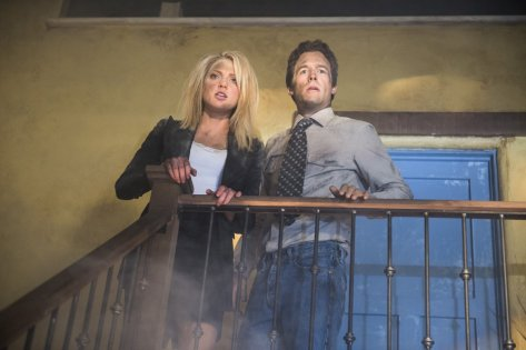 """Ciara Hanna (""""Heather Locklear/Amanda Woodward"""") and Frank Bailey (""""Andrew Shue/Billy Campbell"""") star in the all-new Lifetime movie, The Unauthorized Melrose Place Story Photo by Sergei Bachlakov Copyright 2015"""